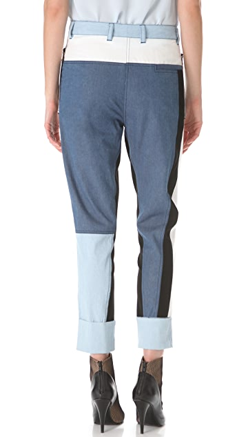 3.1 Phillip Lim Cut Up Surf Pants