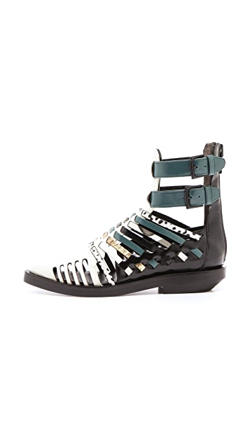 3.1 Phillip Lim PJ Cutout Flat Booties