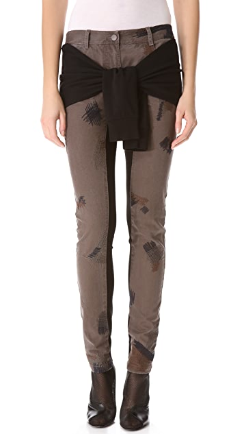 3.1 Phillip Lim Repair Stitch Skinny Pants with Tie Waist