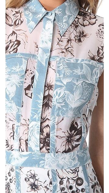 3.1 Phillip Lim Floral Eyelet Grommet Dress