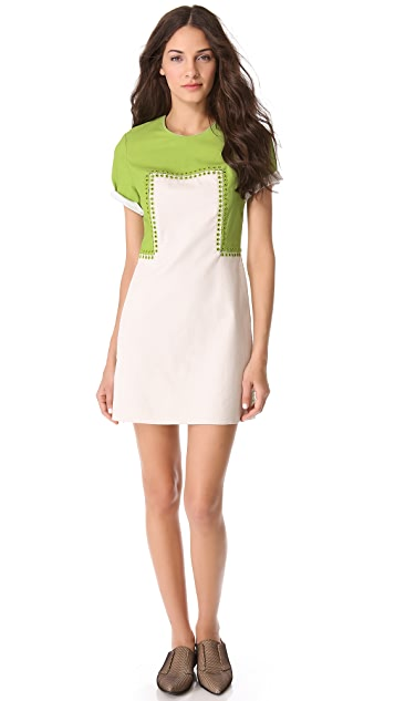 3.1 Phillip Lim Eyelet Combo Shift Dress