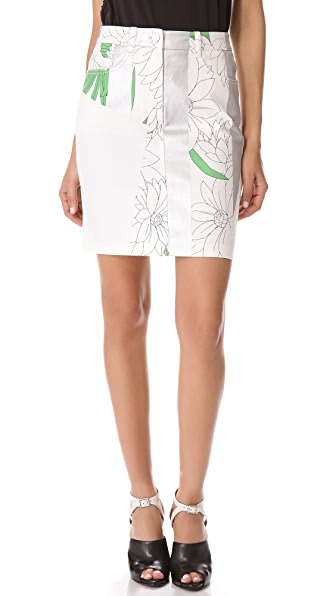 3.1 Phillip Lim Foil Stripe Pencil Skirt