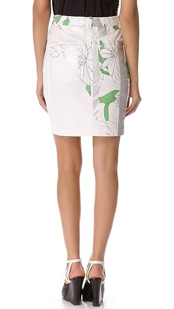 3.1 Phillip Lim Foil Stripe Pencil Skirt