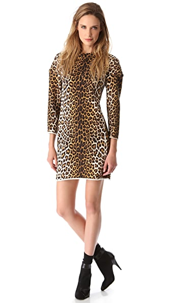 3.1 Phillip Lim Leopard Sweatshirt Dress