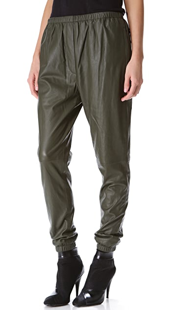 3.1 Phillip Lim Leather Track Pants