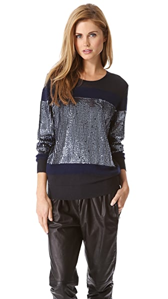 3.1 Phillip Lim Sequin Stripe Pullover