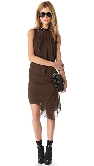 3.1 Phillip Lim Biker Collar Drape Dress