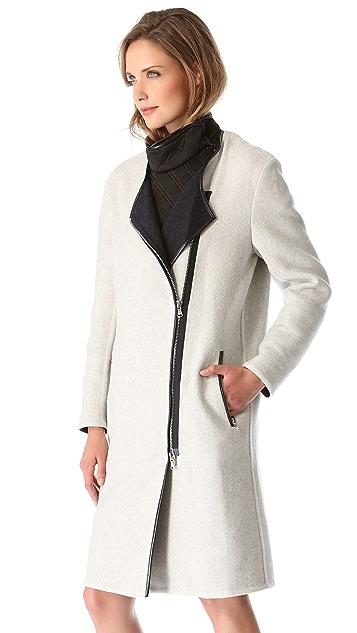 3.1 Phillip Lim Coat with Neoprene Bib