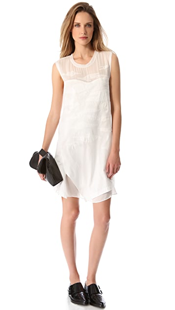 3.1 Phillip Lim Layered Dress with Camouflage
