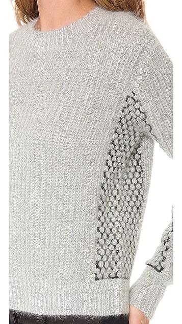 3.1 Phillip Lim Mix Stitch Cropped Pullover