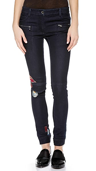 3.1 Phillip Lim Skinny Cargo Jeans with Patches
