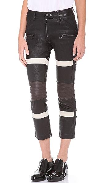 3.1 Phillip Lim Striped Kickback Pants