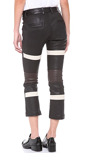 3.1 Phillip Lim Striped Kickback Pants
