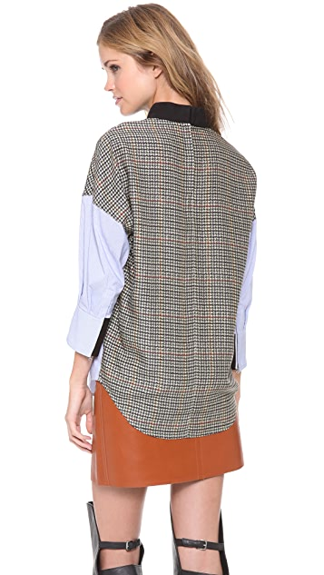 3.1 Phillip Lim Patchwork Front to Back Shirt