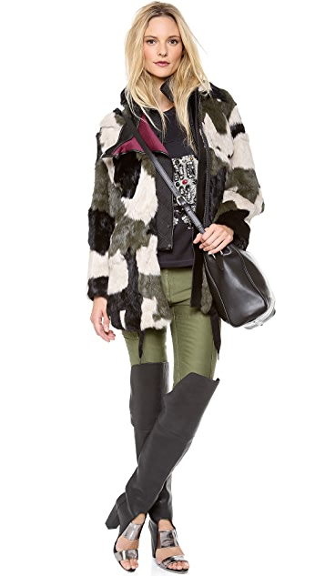 3.1 Phillip Lim Patchwork Parka with Bib
