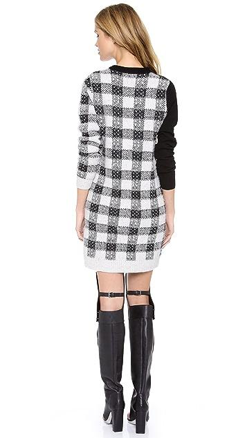 3.1 Phillip Lim Plaid Block Dress with Buckle