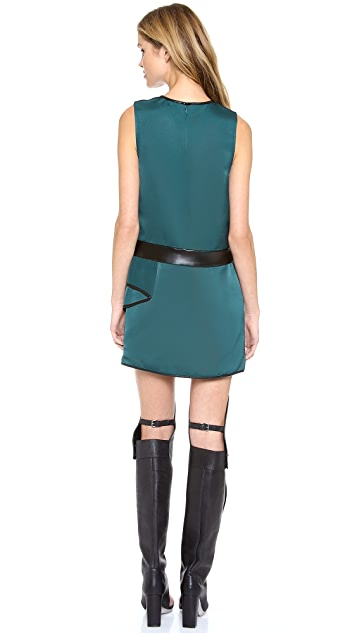 3.1 Phillip Lim Sleeveless Dress with Cascading Drape