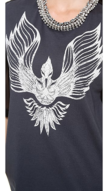 3.1 Phillip Lim Oversized Tee with Beaded Collar
