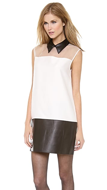 3.1 Phillip Lim Sleeveless Tuxedo Dress