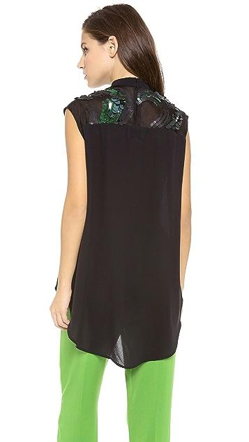 3.1 Phillip Lim Banded Collar Embellished Top