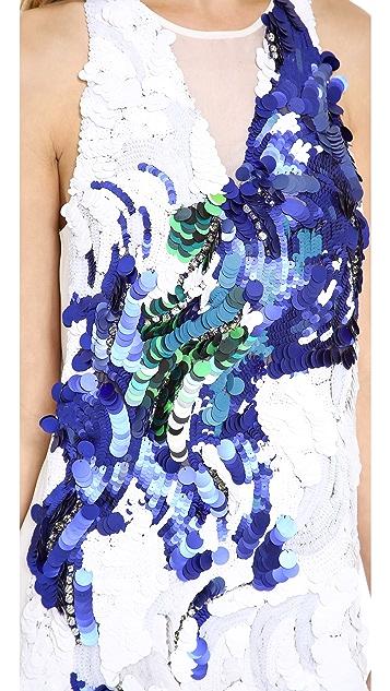 3.1 Phillip Lim Peacock Sequin Tank Dress