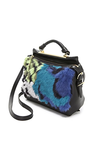 3.1 Phillip Lim Small Ryder Satchel with Fur