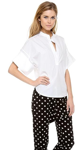3.1 Phillip Lim Collarless Oversized Shirt
