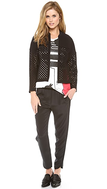 3.1 Phillip Lim Laser Cut Track Jacket