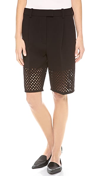 3.1 Phillip Lim Laser Cut Walking Shorts