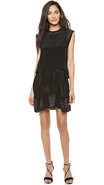 3.1 Phillip Lim Umbrella Skirt Dress with Laser Cut Dots