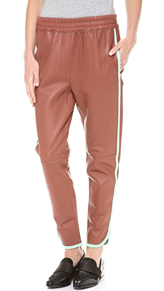 3.1 Phillip Lim Piped Leather Track Pants