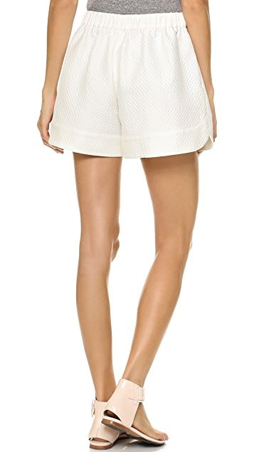 3.1 Phillip Lim Quilted Curved Hem Shorts