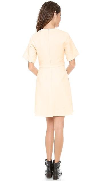 3.1 Phillip Lim Raw Edge Detail Dress