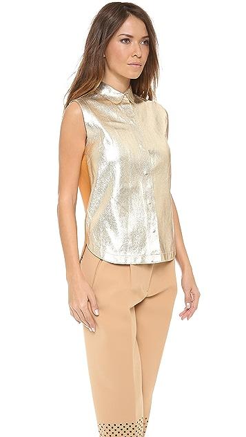 3.1 Phillip Lim Sleeveless Leather Top
