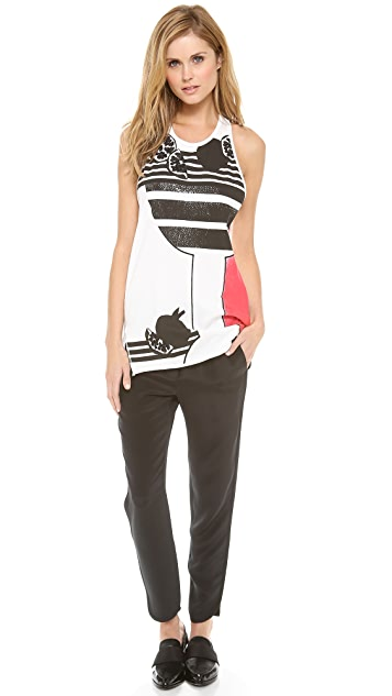 3.1 Phillip Lim Embellished Muscle Tee