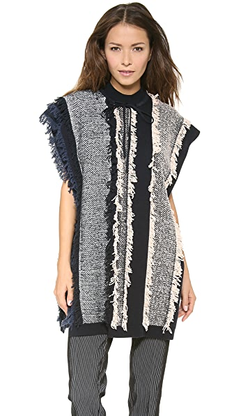 3.1 Phillip Lim Multicolor Striped Fringe Tunic