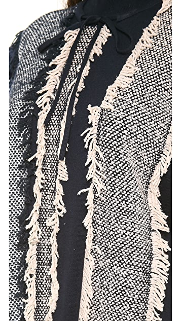 3.1 Phillip Lim Multicolor Striped Fringe Tunic
