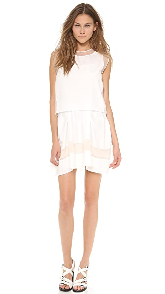 3.1 Phillip Lim Sleeveless Umbrella Skirt Dress