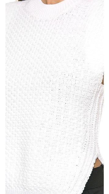 3.1 Phillip Lim Angled Seam Cropped Vest