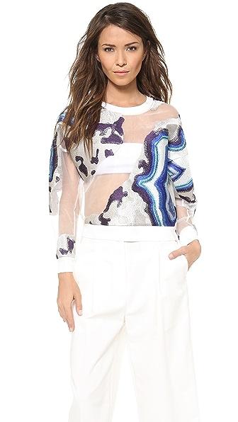 3.1 Phillip Lim Geode Embroidered Sweatshirt