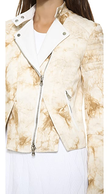 3.1 Phillip Lim Splattered Cutout Hem Jacket
