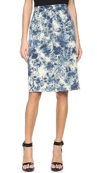 3.1 Phillip Lim Splattered Denim Pencil Skirt