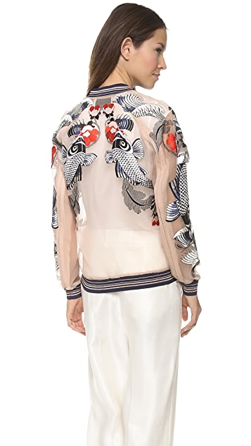 3.1 Phillip Lim Tattoo Embroidered Organza Jacket