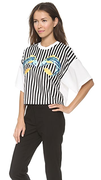 3.1 Phillip Lim Animal Kingdom Cropped Boxy Shirt