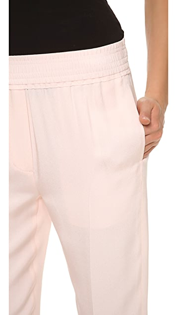 3.1 Phillip Lim Tapered Trousers with Smocked Waist