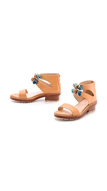 3.1 Phillip Lim Cosmic Zip Up Sandals