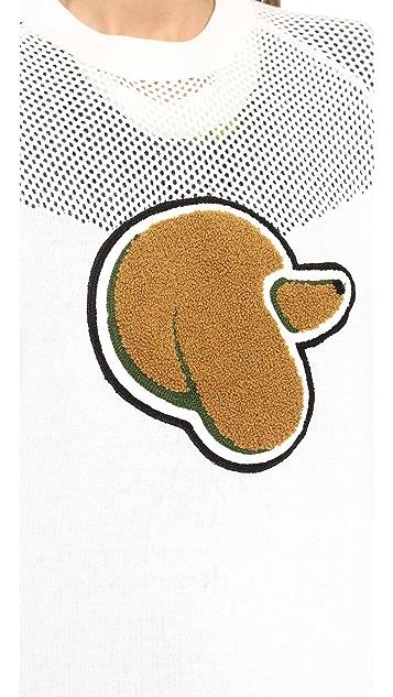 3.1 Phillip Lim Mesh Yoke Poodle Pullover