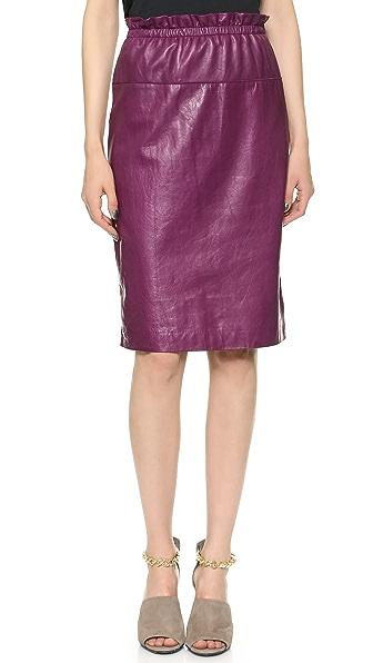 3.1 Phillip Lim Paperbag Waist Leather Skirt