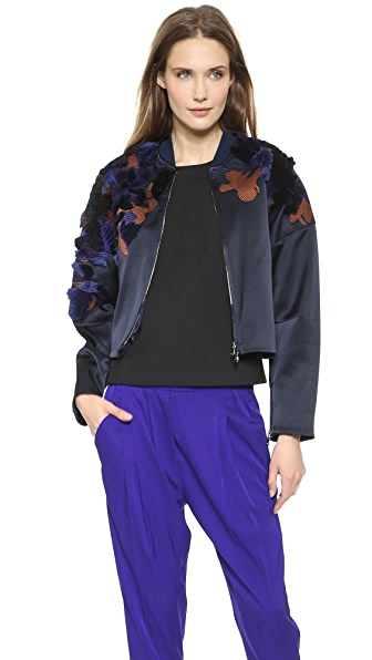 3.1 Phillip Lim Drop Shoulder Floral Bomber
