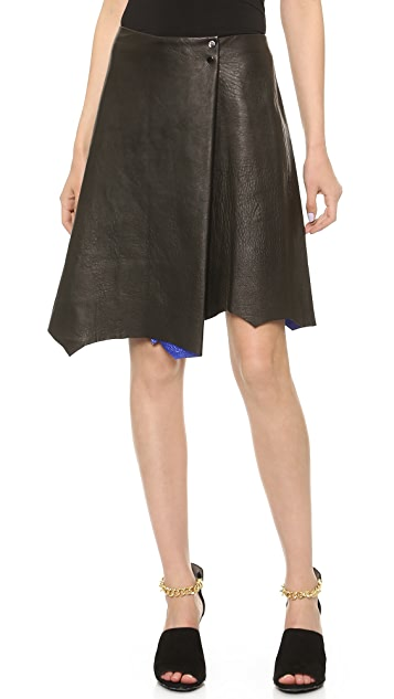 3.1 Phillip Lim Metallic Edge Leather Skirt